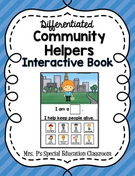 Differentiated Community Helpers Interactive Book