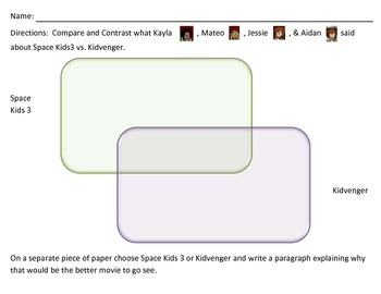 Differentiated Compare and Contrast Companion Graphic Organizers
