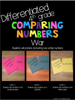 Differentiated Comparing Numbers War