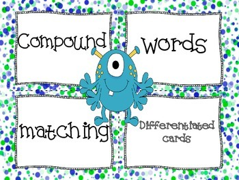 Differentiated Compound Words Matching Cards