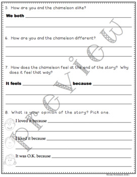 Differentiated Comprehension Questions for A Color of His Own