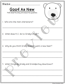 Differentiated Comprehension Questions for the story Good As New