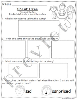Differentiated Comprehension Questions for the story One of Three