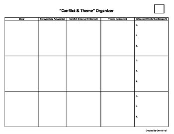Differentiated Conflict & Theme Organizer