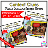 Context Clues Escape Room Differentiated Bundle - 2nd 3rd 4th & 5th Grade