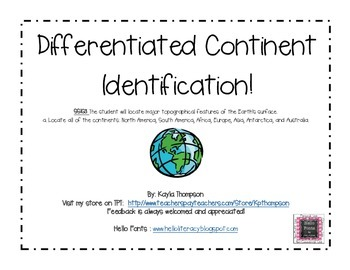 Differentiated Continent Identification