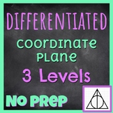Harry Potter Differentiated Coordinate Plane | 3 Levels |
