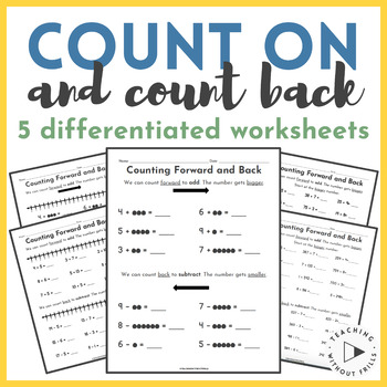 Differentiated Counting On and Counting Back to Add and Su