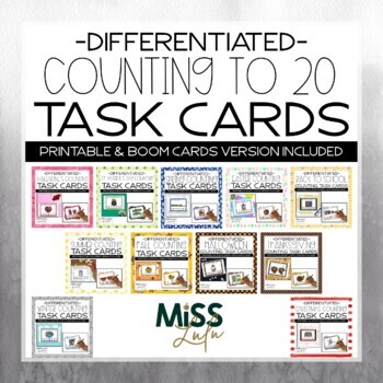 Differentiated Counting Task Cards: Seasonal Bundle