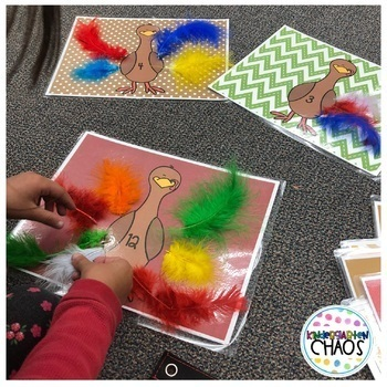 Differentiated Counting Turkey Feathers