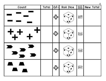 Differentiated Counting and Adding/Subtracting with Dice