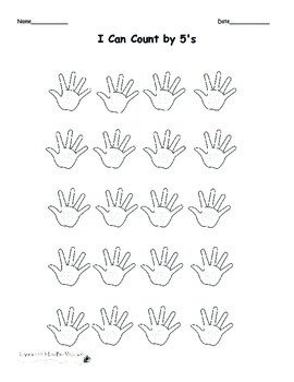 Differentiated Counting by 5's Using Hands