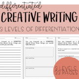 Creative Writing Prompts - Differentiated, Scaffolded