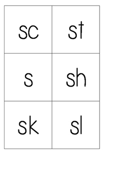 Differentiated Cube Inserts (Consonants, Rblends, SBlends) Printable