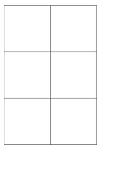 Differentiated Cube Inserts Editable Printable