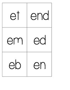 Differentiated Cube Inserts (Short a,e,i,o,u) Printable