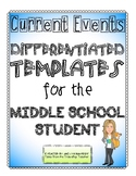 Differentiated Current Events Templates
