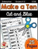 Make a Ten Cut & Glue Worksheets {Differentiated}