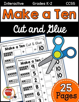 Differentiated Cut & Paste Make a Ten Worksheets