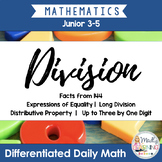 Division: Differentiated Daily Math for Grade 3-6 in Ontario