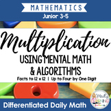 Multiplication: Differentiated Daily Math for Grade 3-6 in Ontario