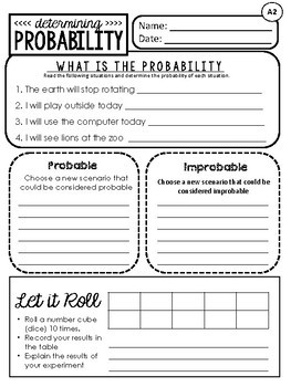 Differentiated Daily Math: Probability