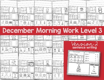 Intermediate Special Education Morning Work: December Edition {3 Levels!}
