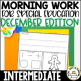 Intermediate Special Education Morning Work: December Edit