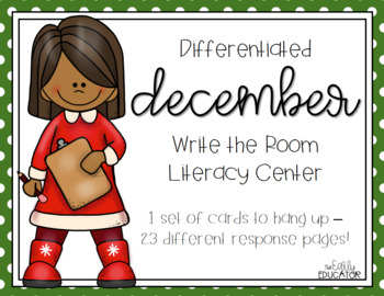 Differentiated December Write the Room Center