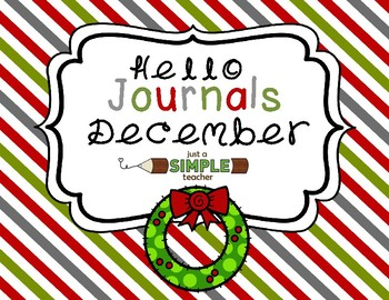 Differentiated December and Christmas Writing Journals for K and 1st