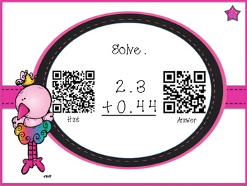 Differentiated Decimal Task Cards w/QR Codes: Read, Write, Compare, Order, +, -