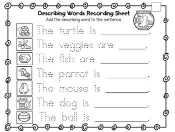 Differentiated Describing Words Center