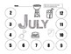 Differentiated Dice Worksheets: July/August