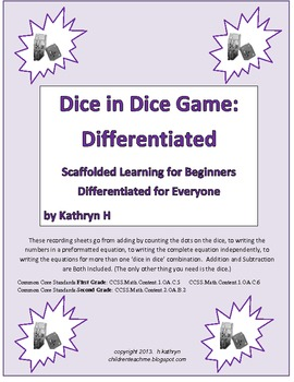 Differentiated Dice in Dice Game