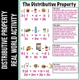 Real World Distributive Property Activity | Fast Food Distributive Property