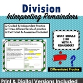 Differentiated Division & Interpreting Remainders Center Activities