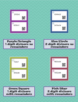 Differentiated Division QR Task Cards