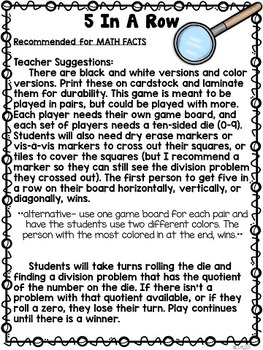 Division Differentiated Stations for Math Workshop: Going Buggy (3-5)