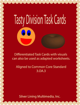 Differentiated Division Task Cards Aligned to Common Core 3.0A.3