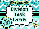 Division Task Cards - Differentiated with QR Answer Codes!