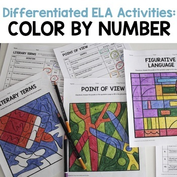 Differentiated ELA Activities: Color by Number