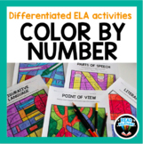 Differentiated ELA Activity: Color by Number Distance Lear