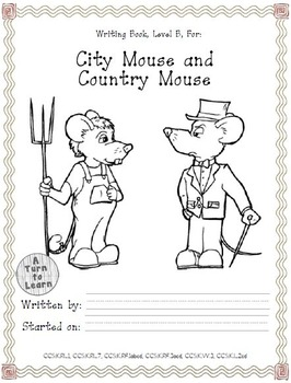 Differentiated ELA Books for Kindergarten, #4: City Mouse, Country Mouse