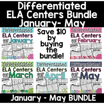 Differentiated ELA Centers for January-May BUNDLE