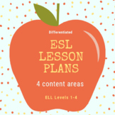 Differentiated ESL Lesson plans