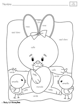 Differentiated Easter Coloring Page- SPANISH