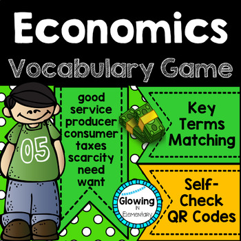 Economics Vocabulary Game with QR Codes