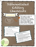 Differentiated Editing Checklists