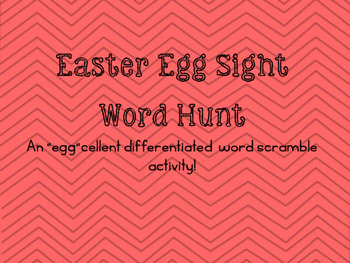 Differentiated Egg Sight Word Hunt