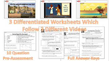 Differentiated Egypt Video Worksheets